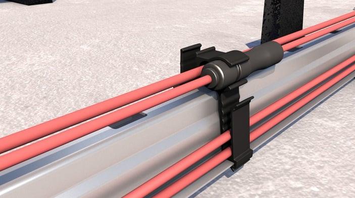 Multi-kabel en connectorclip